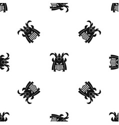 tribal helmet pattern seamless black vector image