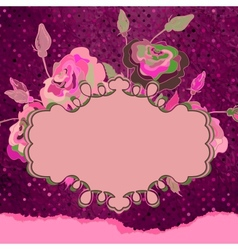 Vintage template with floral frame EPS 8 vector image vector image