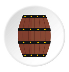 Wine wooden barrel icon circle vector