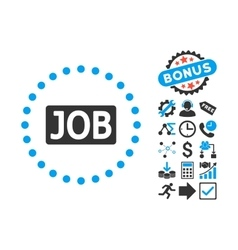 Job text flat icon with bonus vector