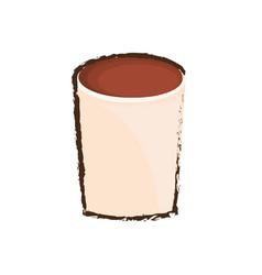 Glass coffee drink liquor vector