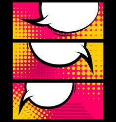 Comic book balloon horizontal blank banner vector