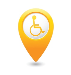 Handicap symbol on yellow marker vector