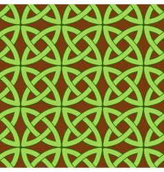 celtic pattern brown vector image
