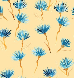Retro background made of water colored flowers vector