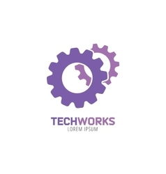 Gear logo icon template machine progress vector