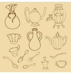 Kitchenware stylish vector image
