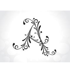 Decorative letter vector