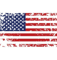 grunge flag of united states vector image