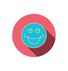 Smile icon positive happy face sign vector
