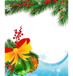 Holly berry and christmas baubles vector