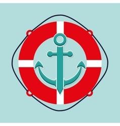 Sea and nautical equipment vector