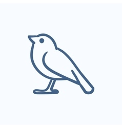 Bird sketch icon vector