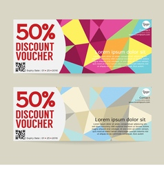 50 percent discount voucher template vector