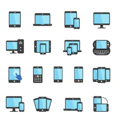 Color icon set - responsive devices vector image