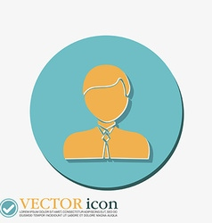 A male avatar Picture a man icon image guy in tie vector image