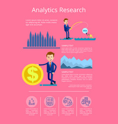 analytics research data vector image vector image