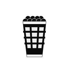 Basket with golf balls icon vector image vector image