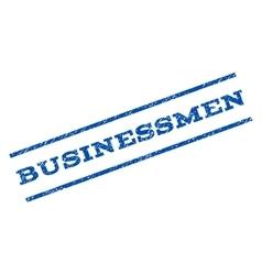 Businessmen watermark stamp vector