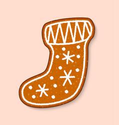 christmas cookie sock cake sweet desserts vector image vector image