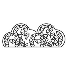 Cloud organic food sticker outline vector