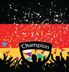 crowd cheer germany vector image vector image