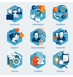 Customer service concept set vector