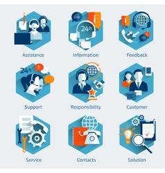 Customer service concept set vector