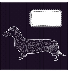 Dachshund background vector image vector image