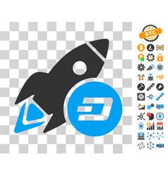 dash rocket icon with bonus vector image vector image