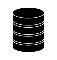 data center disk icon vector image
