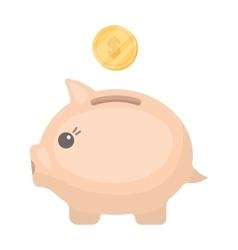 Donation piggybank icon in cartoon style isolated vector