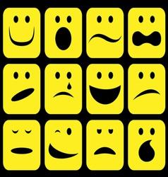 emotions set vector image vector image
