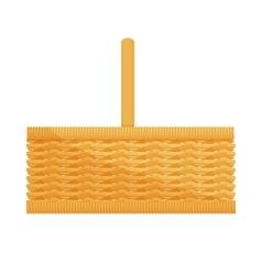 Empty wicker basket icon vector image vector image