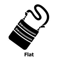 flat bag icon simple black style vector image