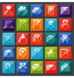 Flat icons collection for Business item vector image vector image