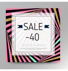 Gold sale background for flyer vector