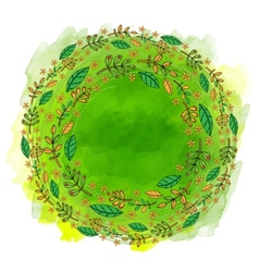 Green watercolor banner vector image vector image