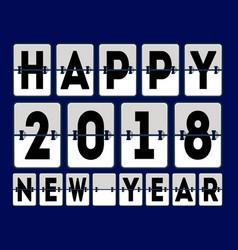 Happy 2018 new year banner vector