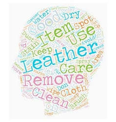 Keep your leather items as good as new text vector
