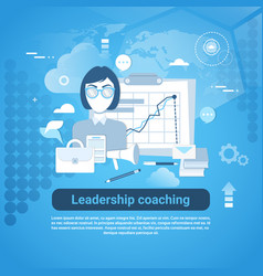 leadership coaching web banner with copy space on vector image vector image