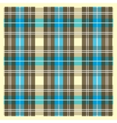 Light yellow brown and blue scottish fabric vector