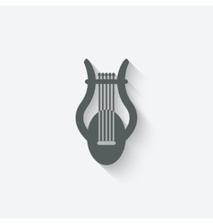 Lyre music design element vector