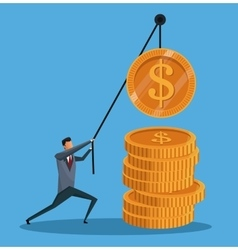 Man financial business money gold work vector
