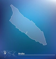 Map of Aruba vector image