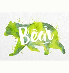 Painted animals bear vector