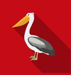 pelican icon in flate style isolated on white vector image