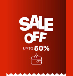 Sale banner template sale off up to 50 percent vector
