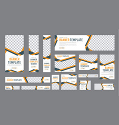 set of web banners of standard size with a place vector image