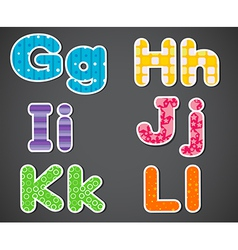 Six alphabet letters vector